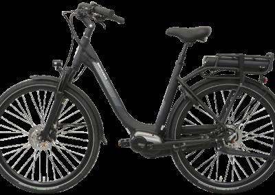 Brinckers_Brisbane_M8_Elektrsiche_fiets_dames_links_zijaanzicht_zwart